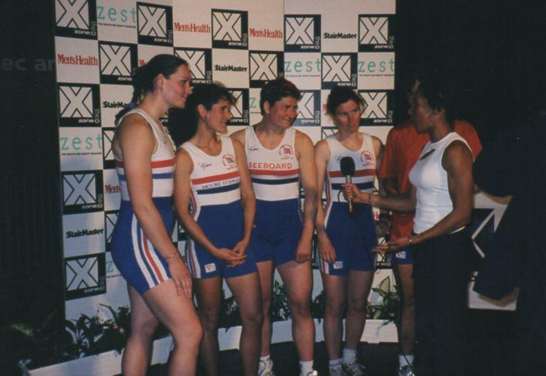 5 women in GBR all in ones being interviewed